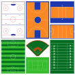 Stock Vector: Sport Fields