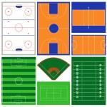 Sport Fields — Stock Vector
