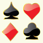 Play Card Symbols — Stock Vector
