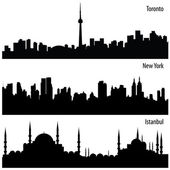 Cityscapes — Stock Vector
