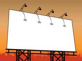 Outdoor Billboard — Stock Vector