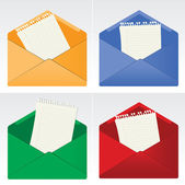 Envelopes — Stock Vector