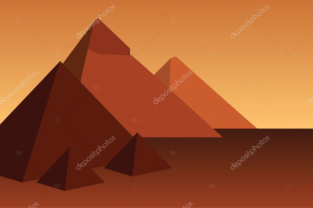 Vector illustration of the pyramids — Stock Vector #3750292