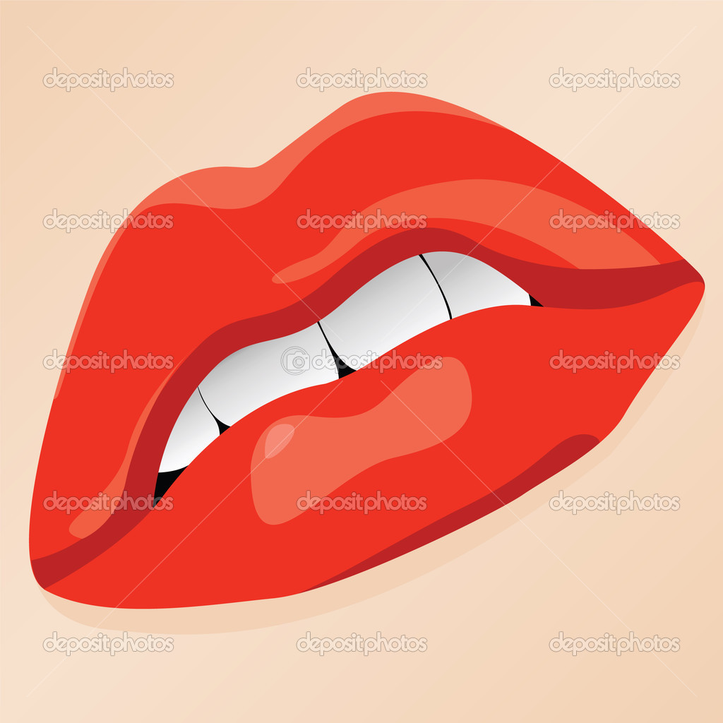 Vector illustration of sexy lips  Stock Vector #3750303
