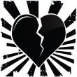 Stock Vector: Broken Heart