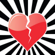 Royalty-Free Stock Vector Image: Broken Heart