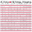 Kanji Translation - Stock Vector