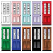 Portes colorées — Vecteur