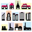 Stock Vector: Buildings