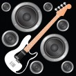 Bass Guitar — Stock Vector