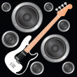 Royalty-Free Stock Vector Image: Bass Guitar
