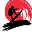 Stock Vector: Surfer