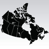 Mapa canadiense — Vector de stock