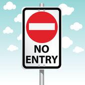 No Entry — Stock Vector