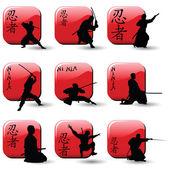Ninjas — Stock Vector