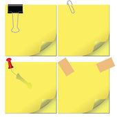 Not kağıtları — Stok Vektör