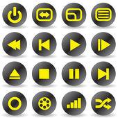 Media iconen — Stockvector