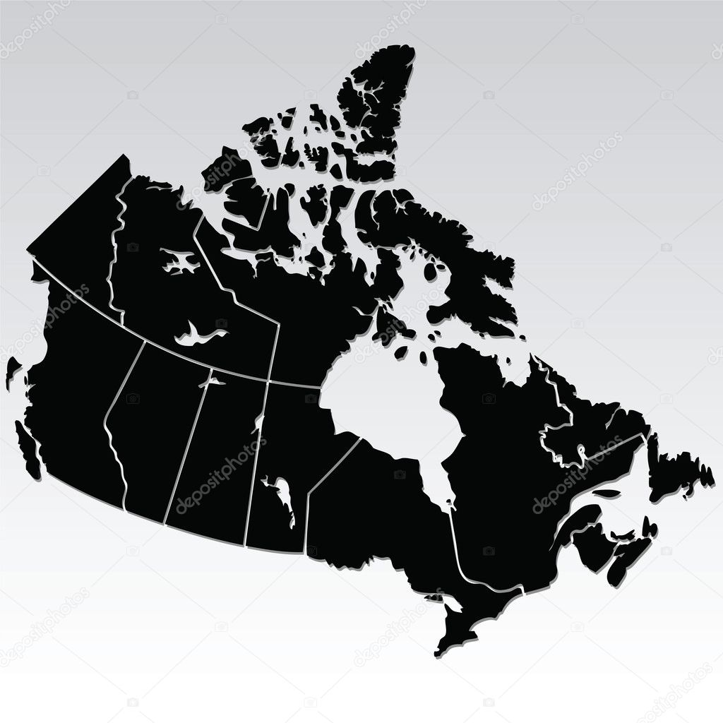 Vector map of Canada — Stock Vector #3780370