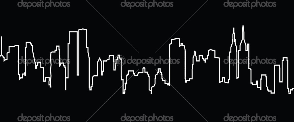 Vector cityscape of New York — Stock Vector #3786157