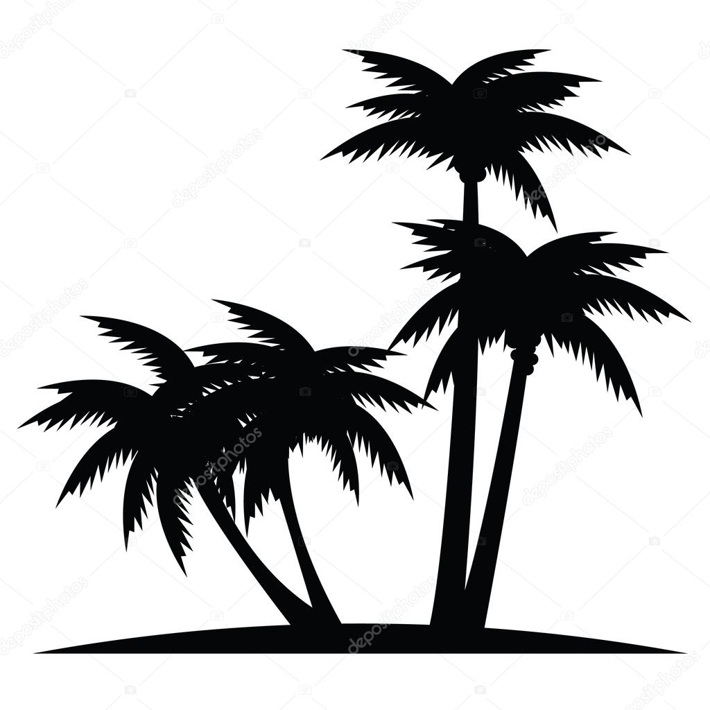 Пальма вектор