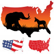 American Map — Stock Vector #3861219