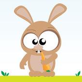 Bunny Eats Carrot — Stock Vector