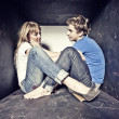 Atrractive young couple in  love - Photo