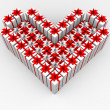 Royalty-Free Stock Photo: Gift boxes in the form of the heart.