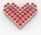 Gift boxes in the form of the heart. — Stock Photo
