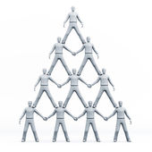 3D pyramid of — Stock Photo