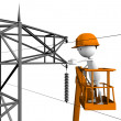 Stock Photo: Electrical linemen