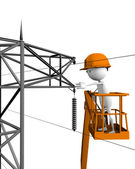 Electrical linemen — Stock Photo