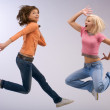 Color jumping — Stock Photo