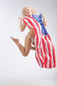 USA jump — Stock Photo