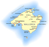 Vector Mallorca map — Stock Vector