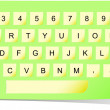 Vector de stock : Vector paper keyboard