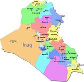 Iraq vector map — Stock Vector