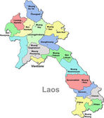Laos vector map — Stock Vector