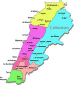 Lebanon map — Stock Vector