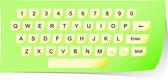 Vector paper keyboard — Stock Vector