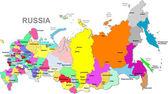Vector russische federatie kaart — Stockvector