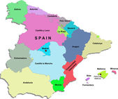 Vector spain map — Stock Vector