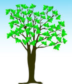 Summer tree — Stok Vektör