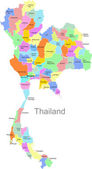 Vector Thailand map — Stock Vector