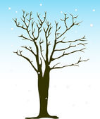Vector winter tree — Stock Vector