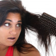 Woman with hair problem — Stock Photo