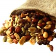 Trail mix of nuts, seeds, and dried fruit. - Photo