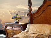 Bedroom in classic style — Stock Photo