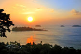 Beautiful sunset, Chang island, Thailand — Stock Photo