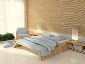 Bedroom, 3d rendering — Stock Photo